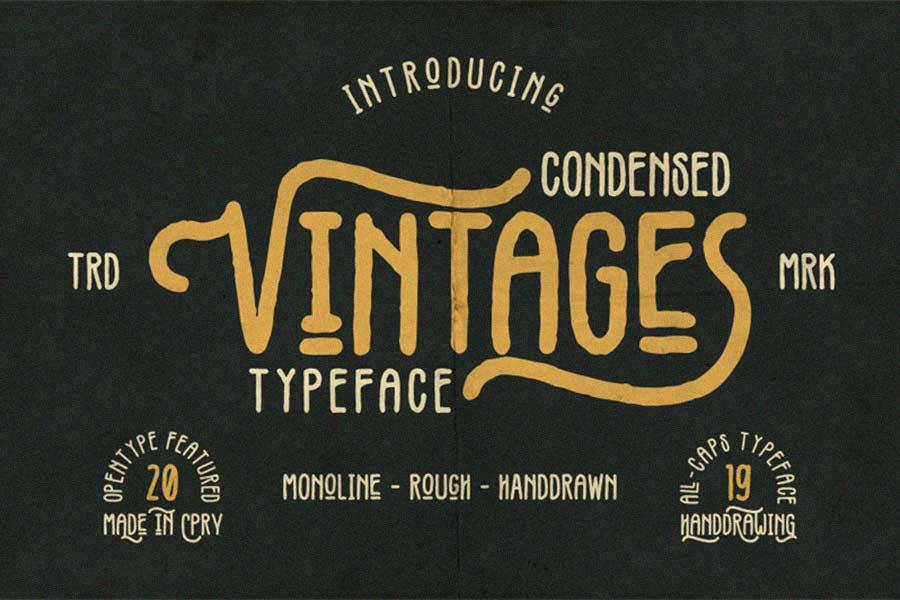 Free Vintage Rustic Font