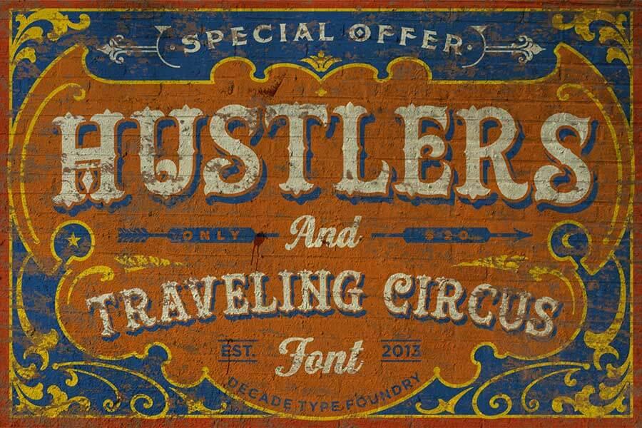 Hustlers Rough Vintage Font