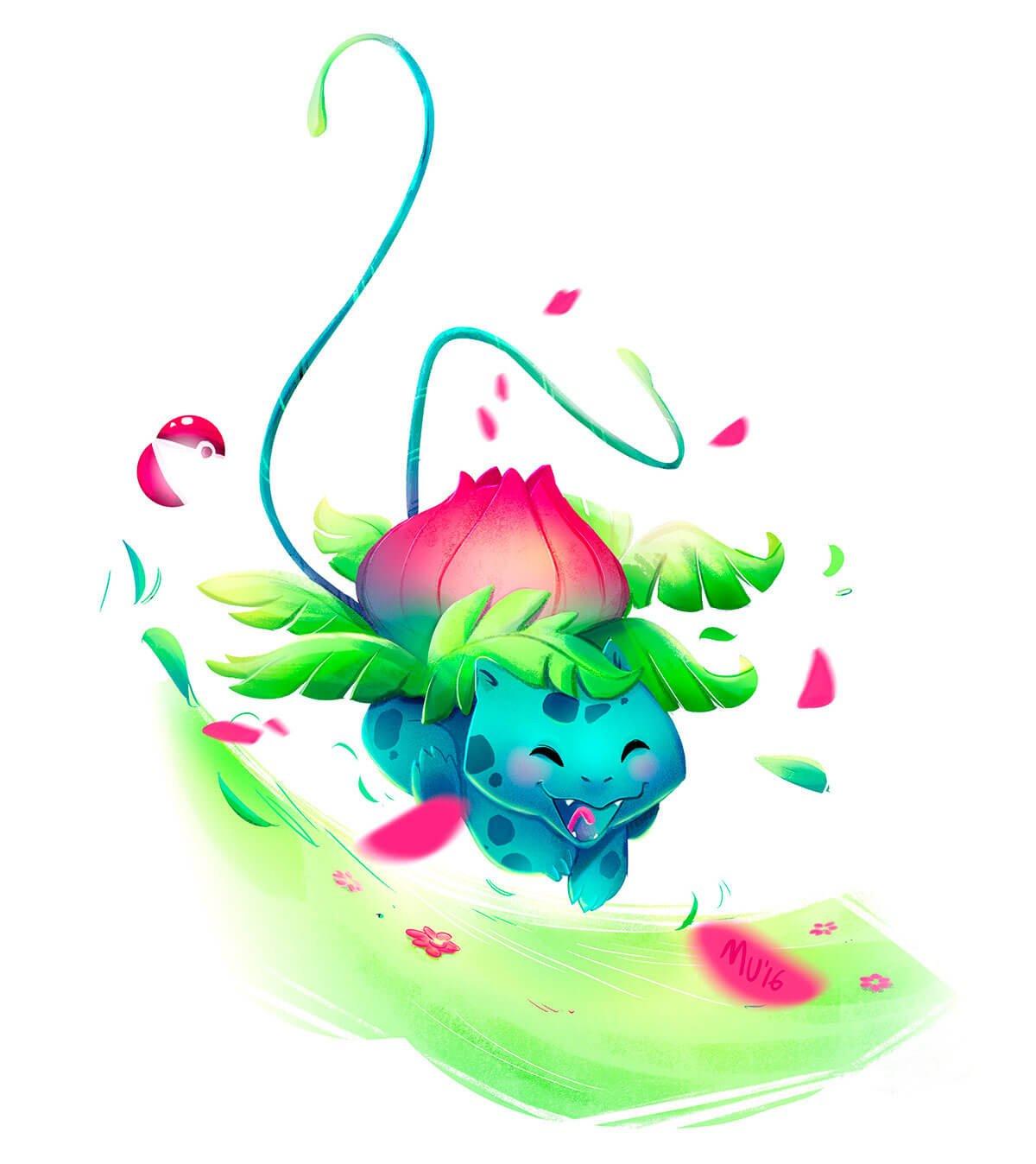 Ivysaur by Sara Mauri