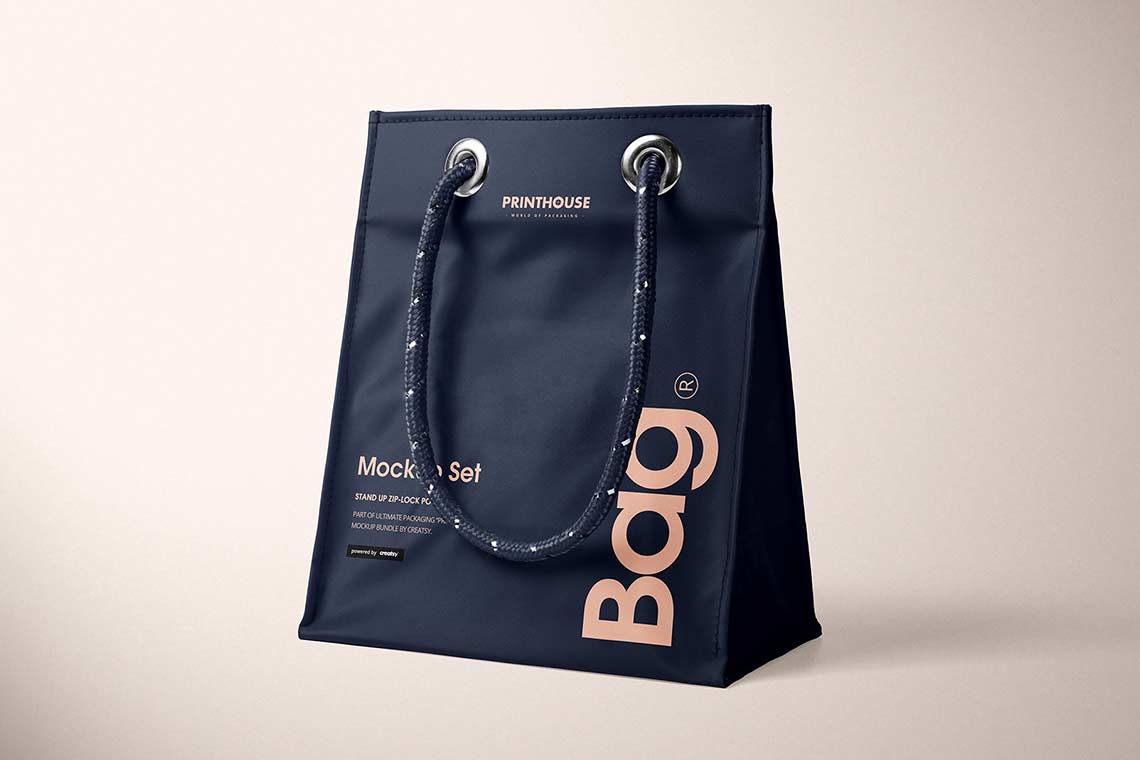 Matte PVC Reusable Tote Bag Mockup
