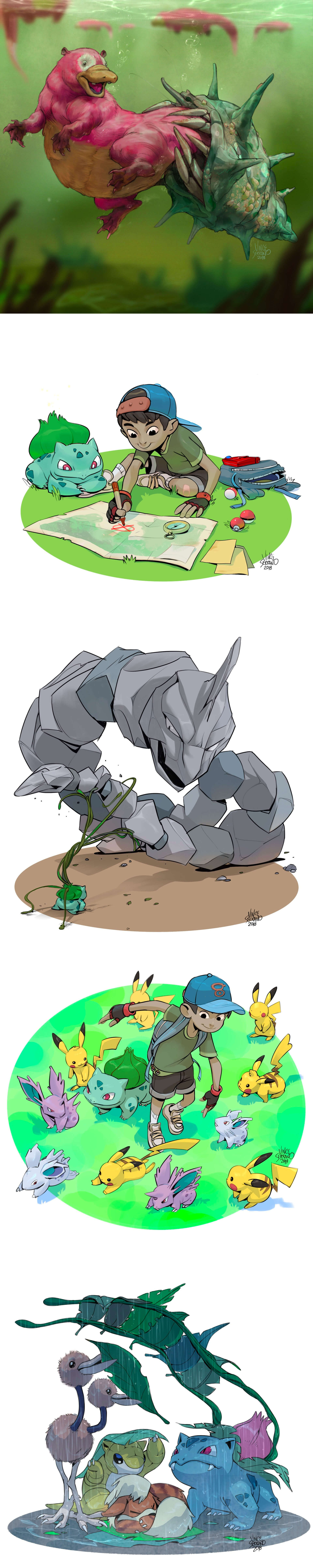 Pokémon Artworks by Vince Serrano