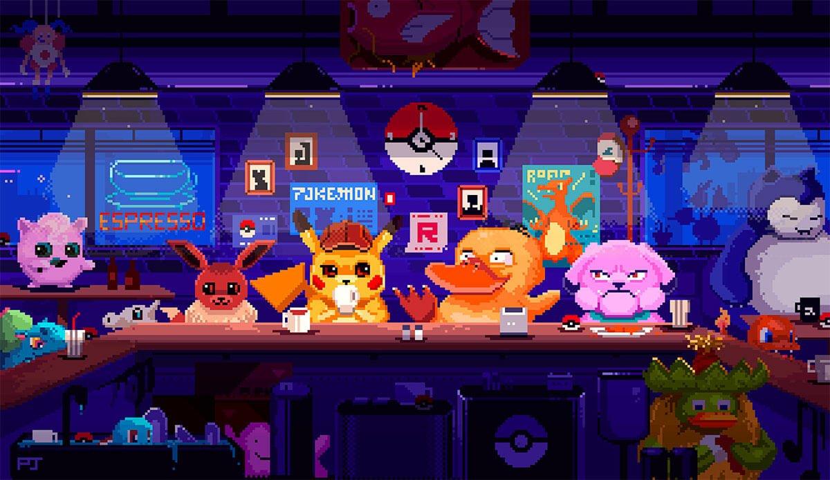 Pokemon Cafe by Pixel Jeff