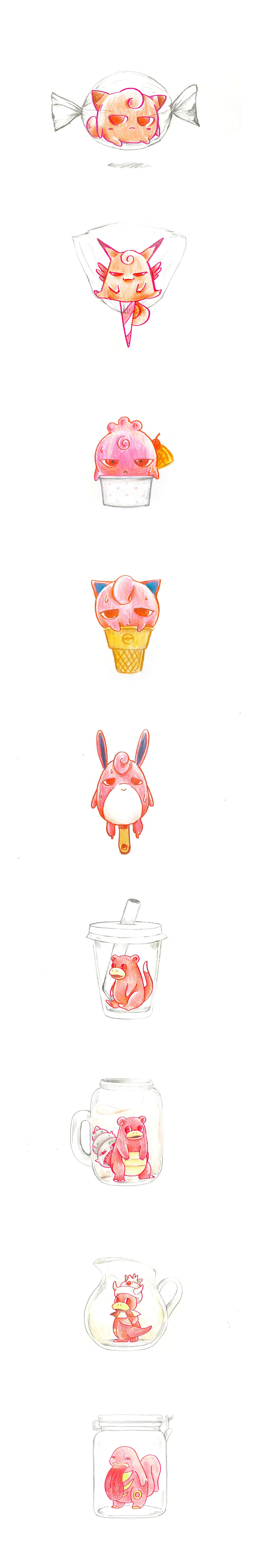 Pokemon Inktober by Theresia Tarisa