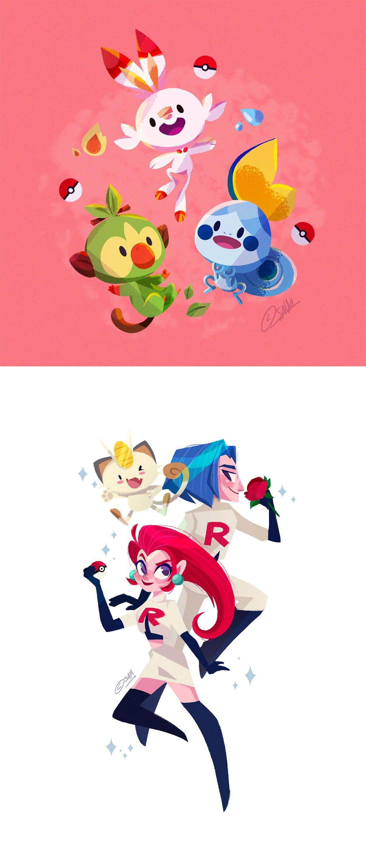 Pokemon Sword & Shield by Samantha Germaine Sim