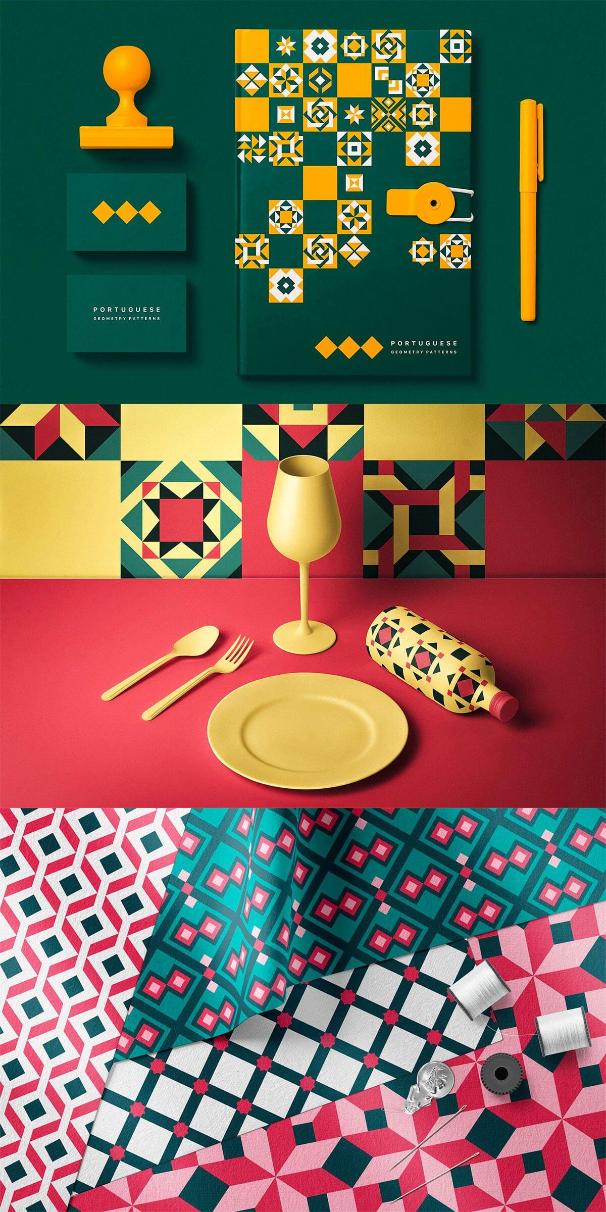 Portuguese Geometric Patterns by Anna Tikhomirova
