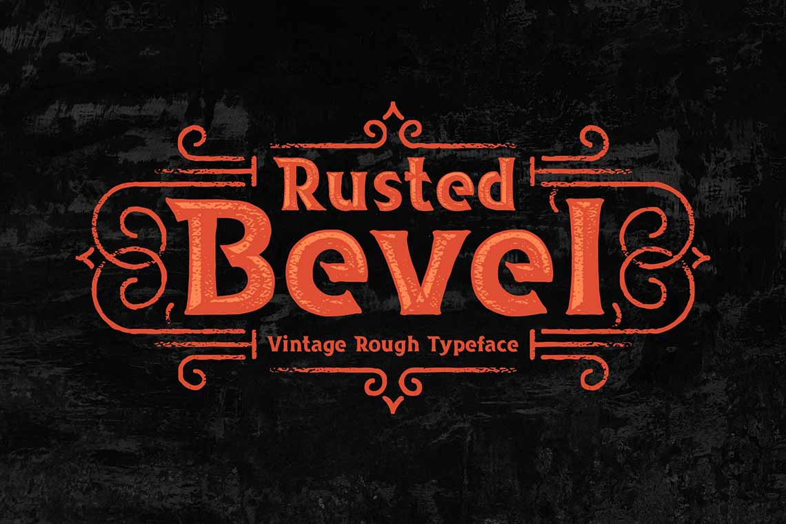 Rusted Bevel Vintage Typeface