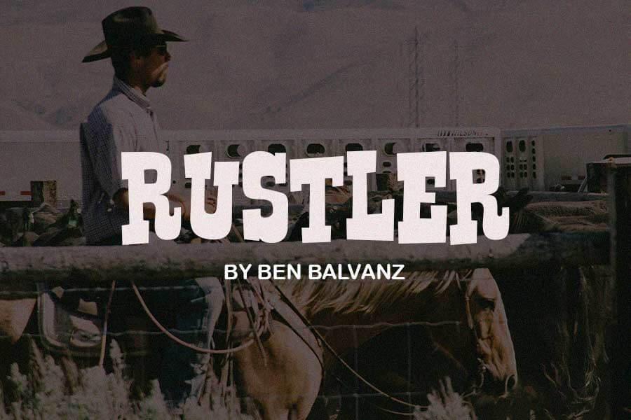 Rustler Free Western Font