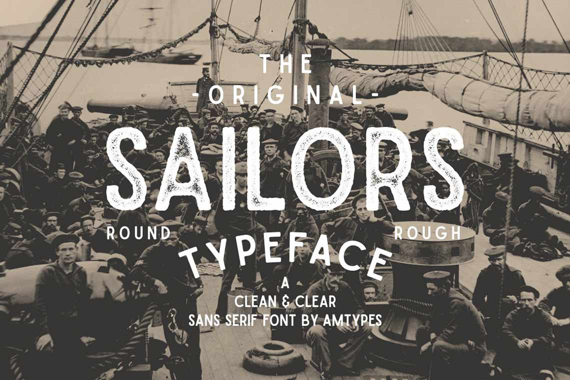 Sailors Rough Font