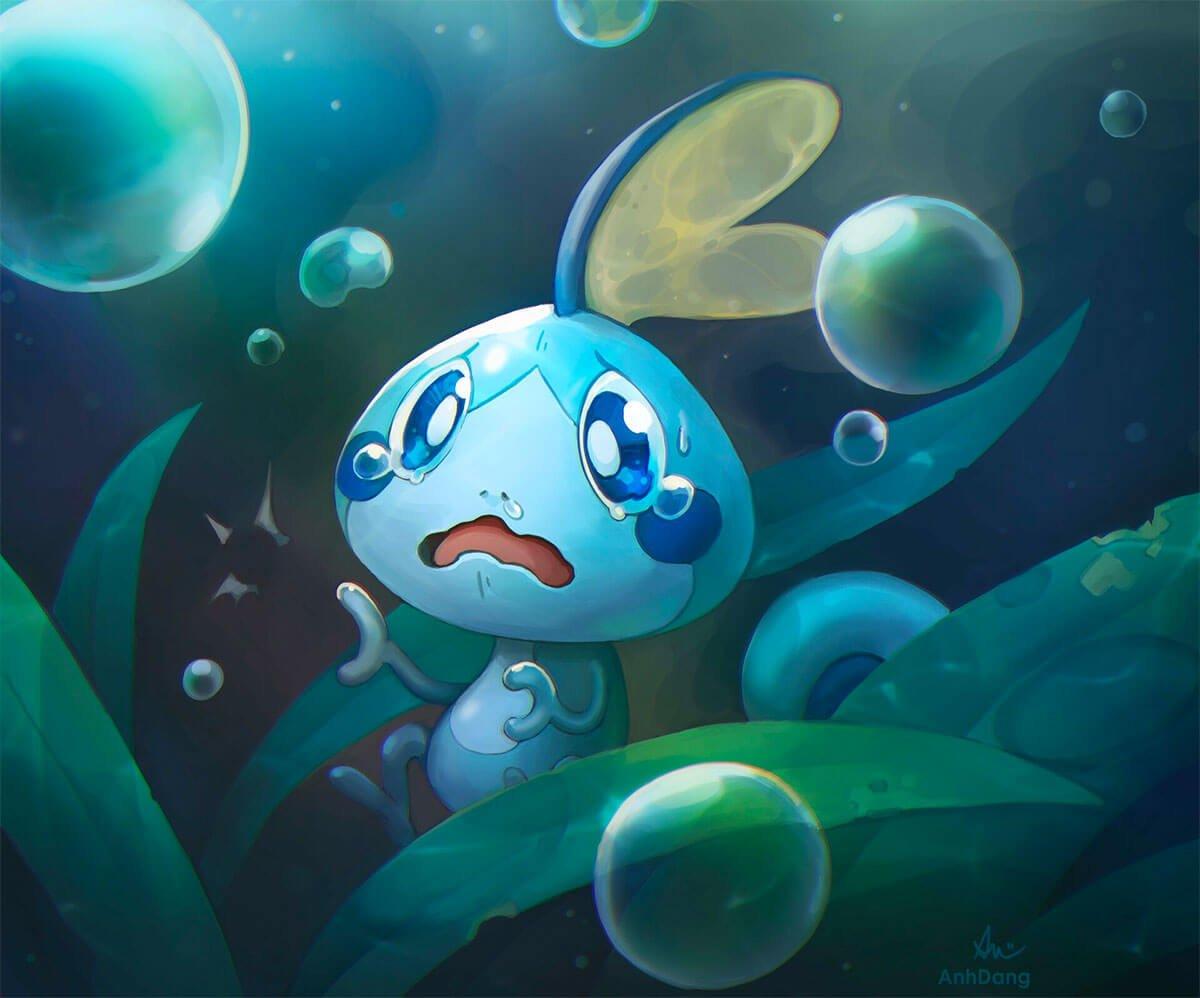 Sobble Fan Art by Anh Dang