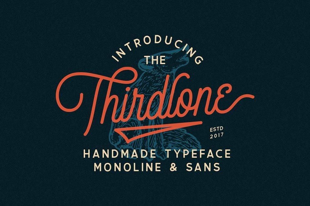 Thirdlone Retro Font Duo & Vector Pack