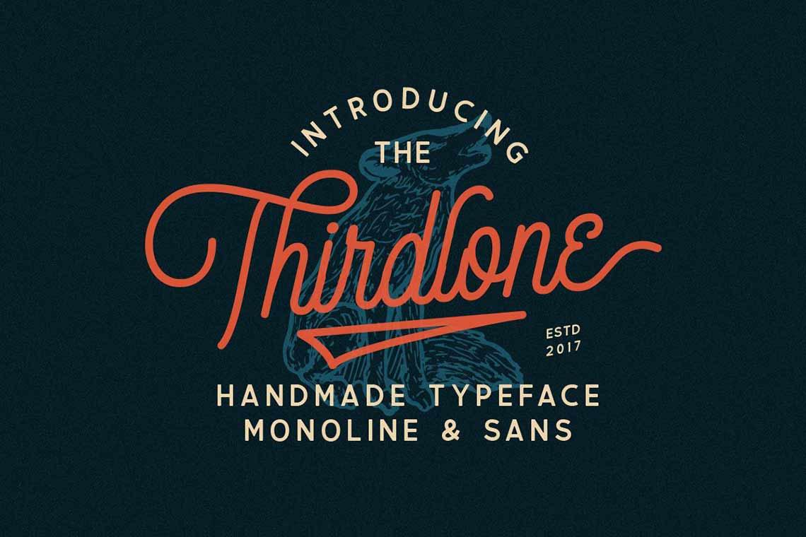 Thirdlone Retro Font Duo & Vector Pack