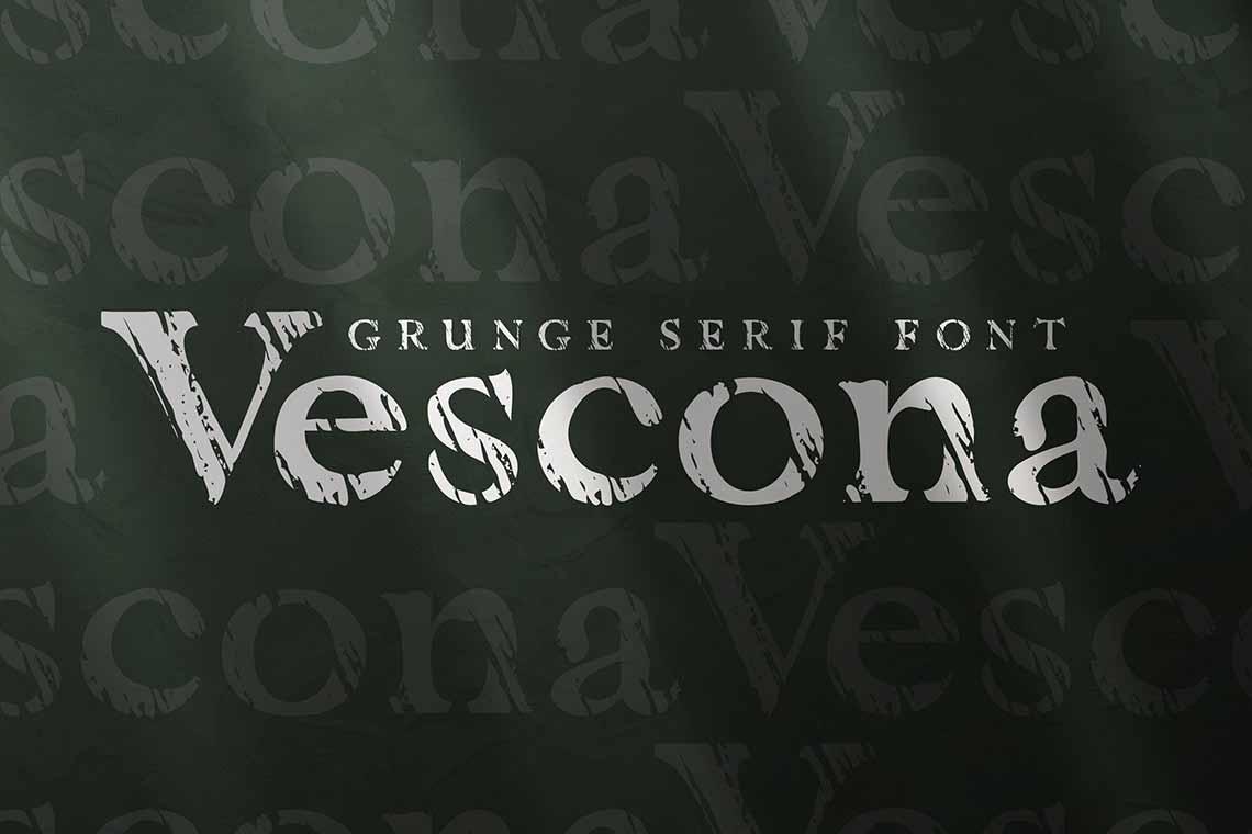Vescona Grunge Font