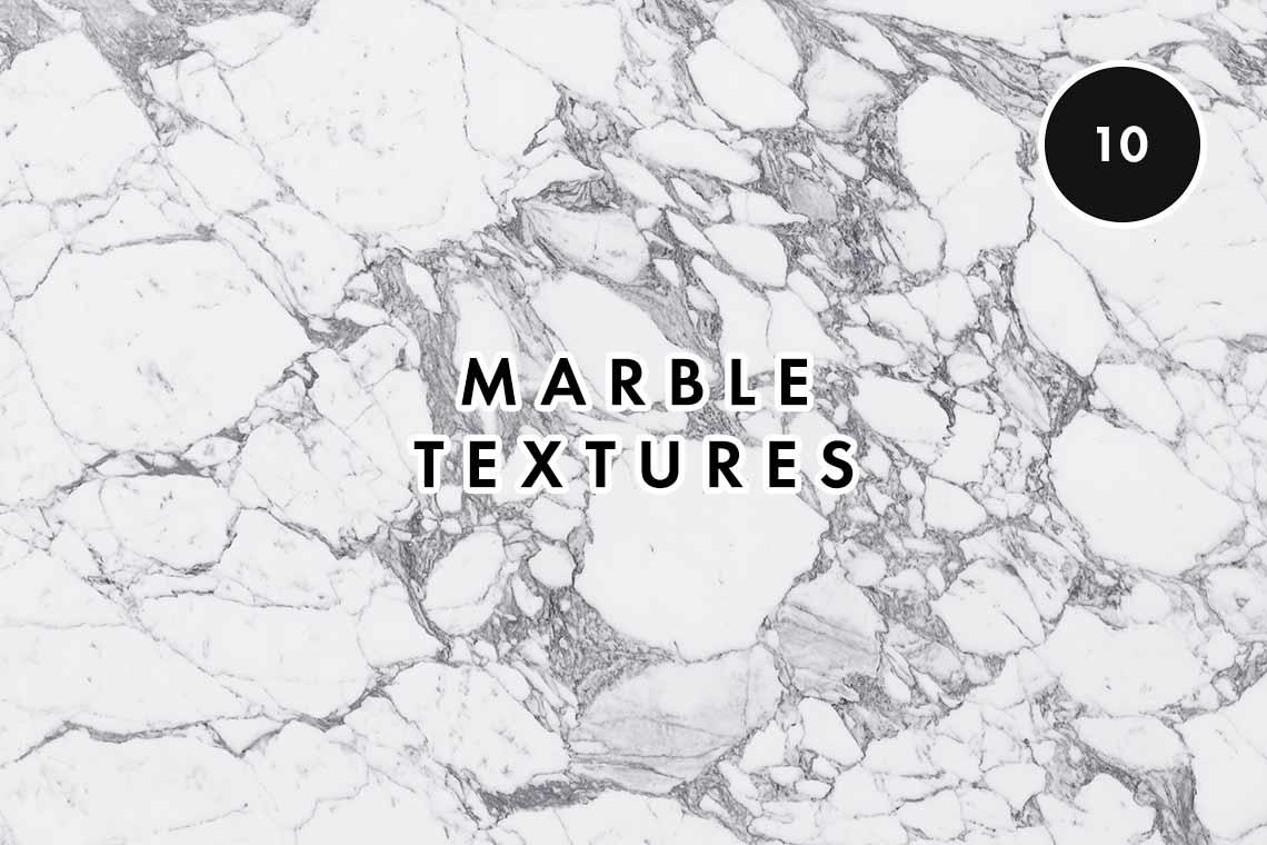 10 White Marble Texture Set