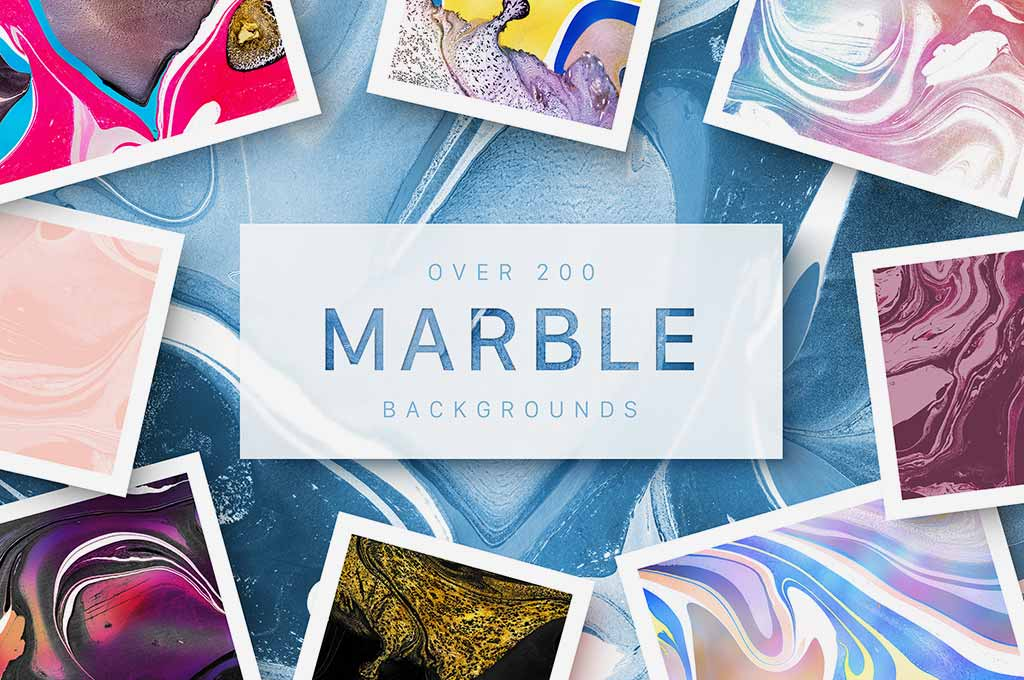 200 Marbled Papers — Huge Collection