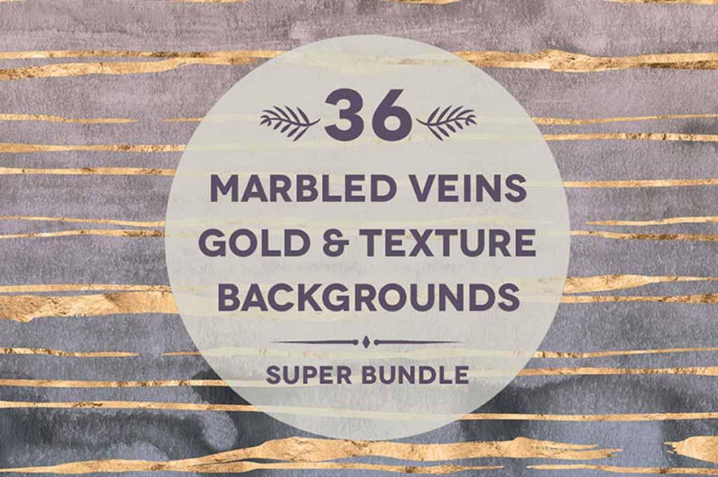 36 Marbled Veins Gold Textures