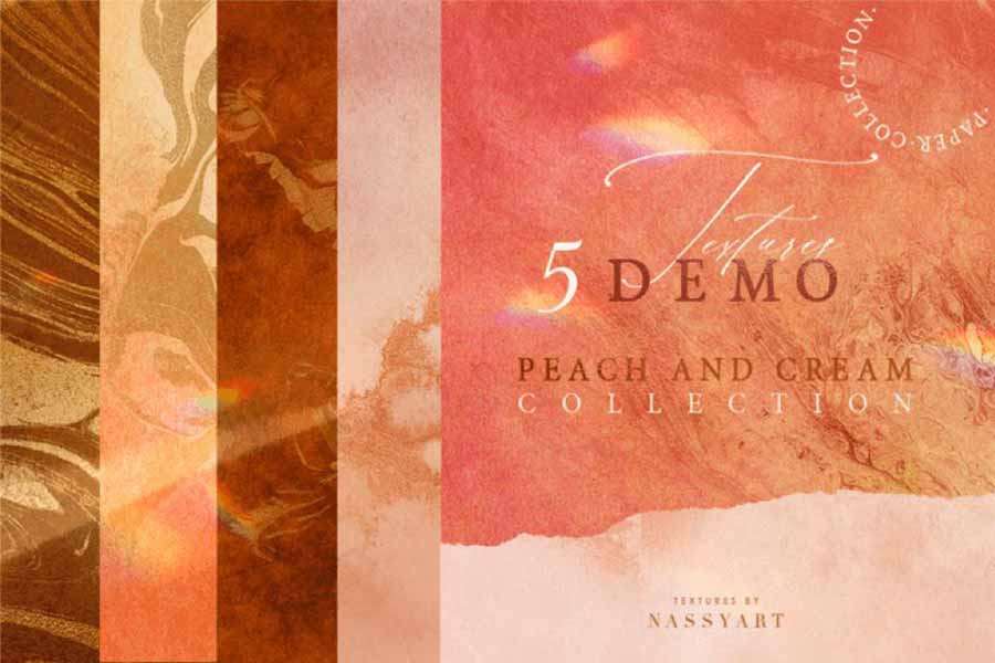 5 Free Peach and Cream Textures