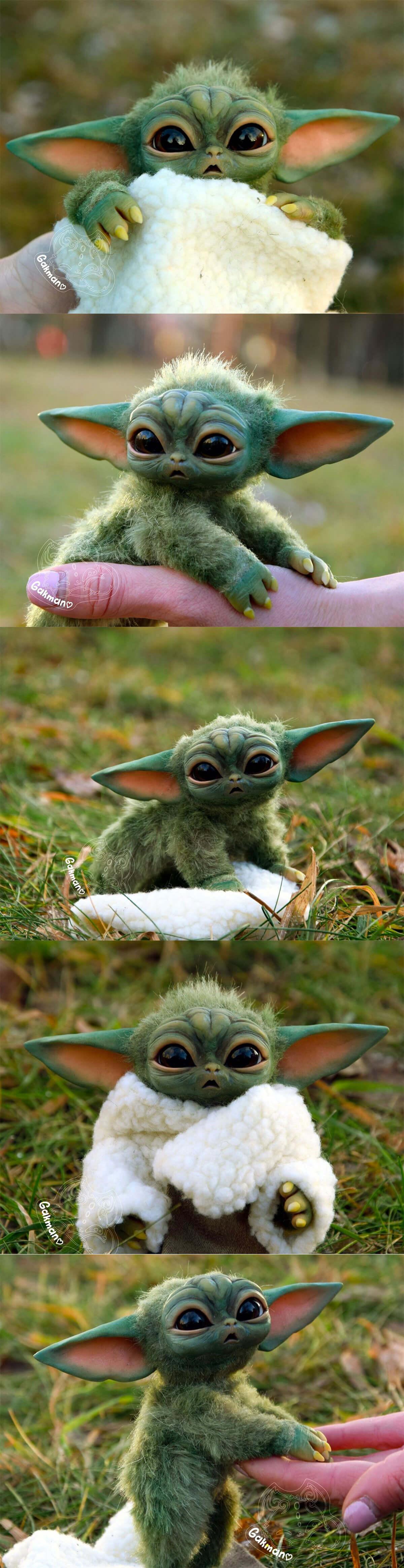 Baby Yoda Fan Art by Ekaterina Gakman