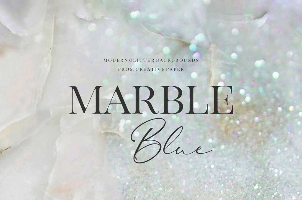 Blue Marble and Glitter Textures