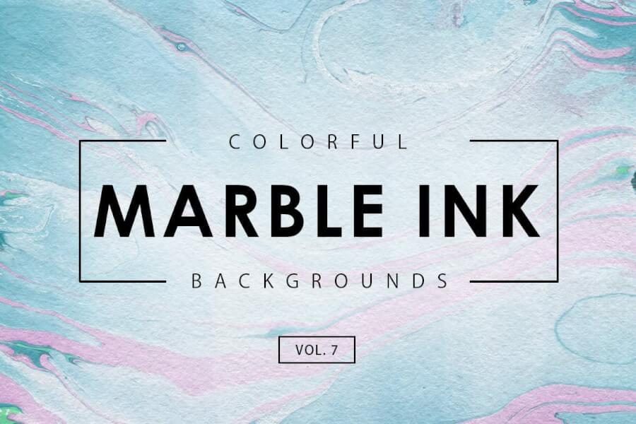 Colorful Marble Ink Backgrounds