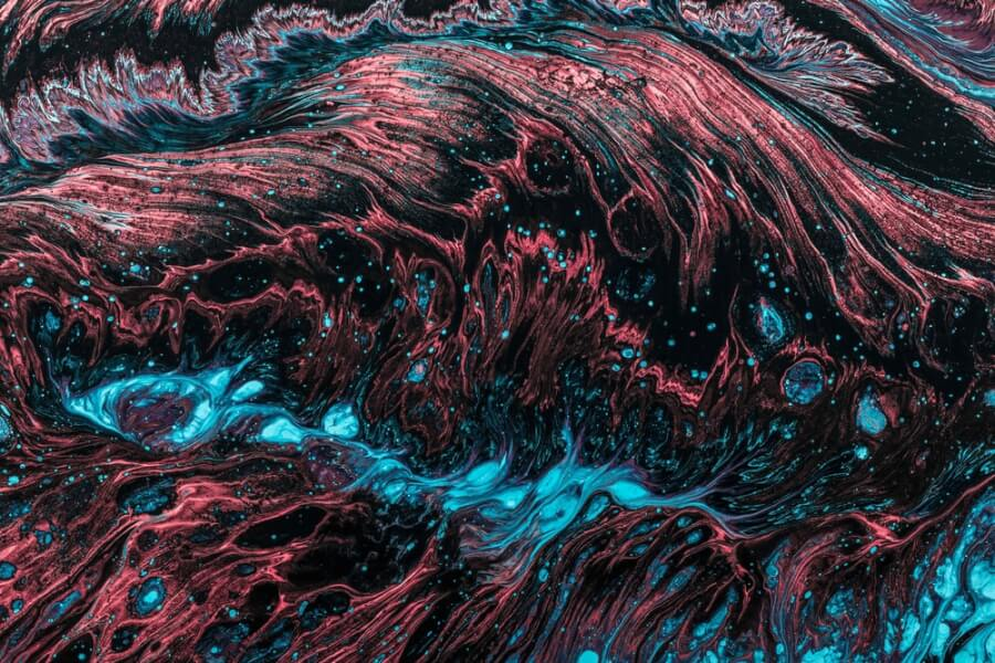 Fluid Abstract Painting