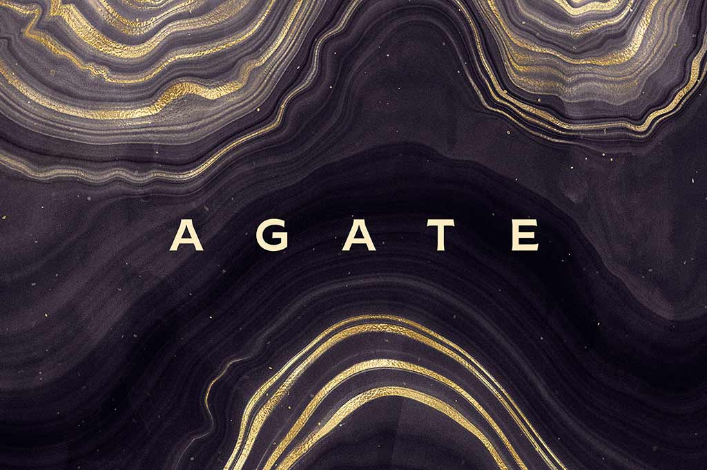 Gold Agate Stone Textures