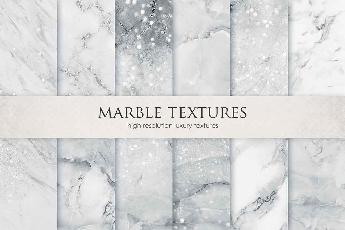 Grey Marble Background Set