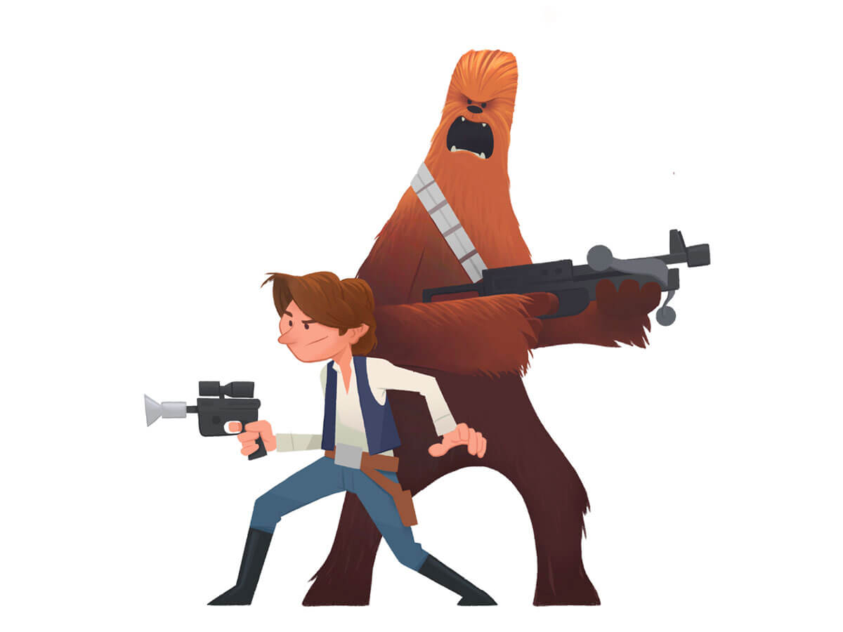 Han & Chewie by Jake Page