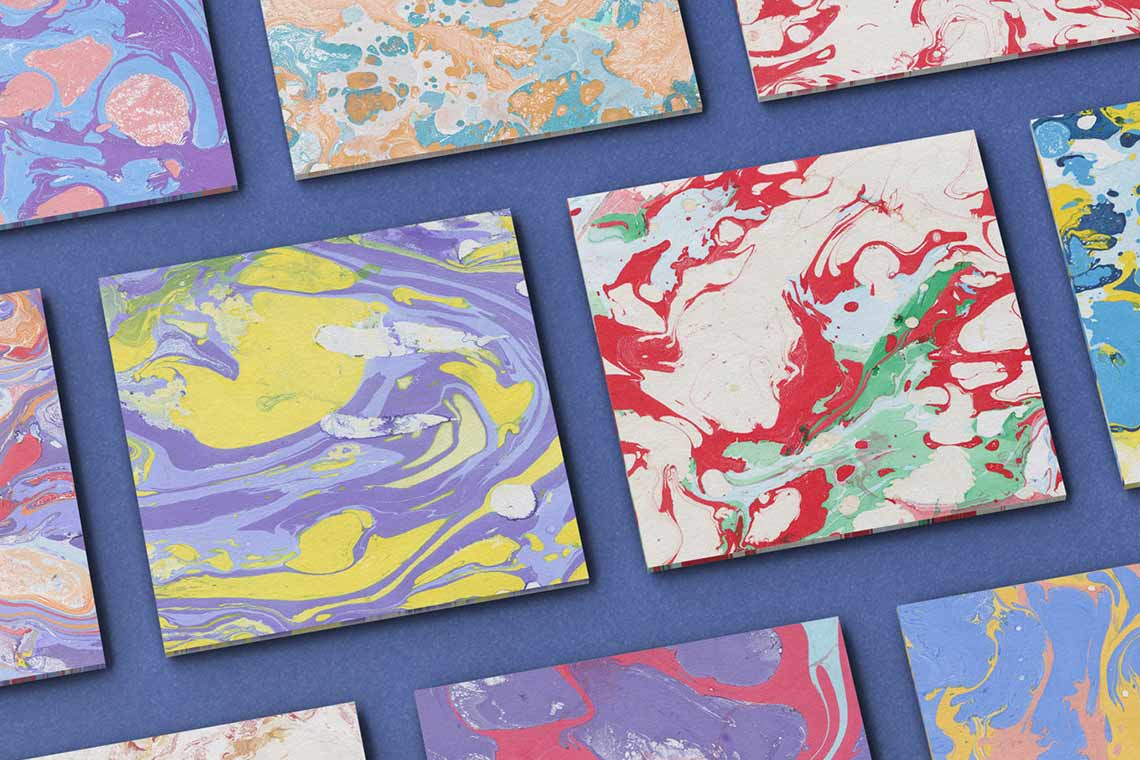 Ink Marble Paper Textures
