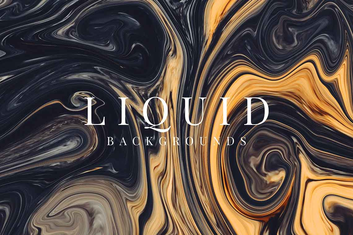 Liquid Background Graphics Set