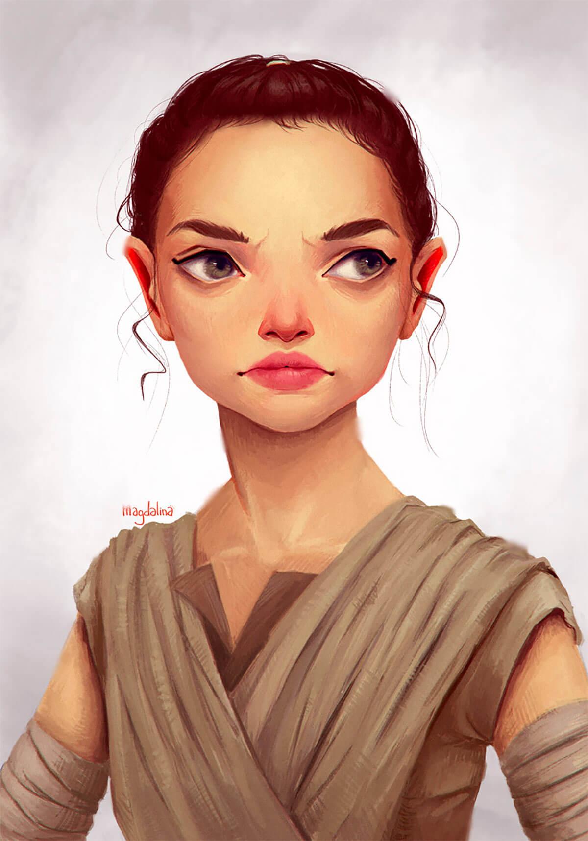 Rey Fanart by Magdalina Dianova