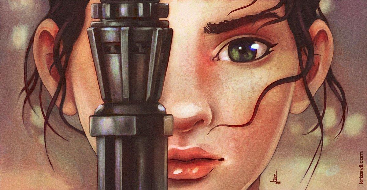 Rey - Star Wars The Force Awakens fan art by Christian Villacis