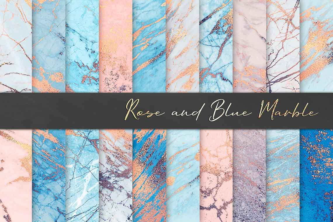 Rose Blue Marble Texture Set