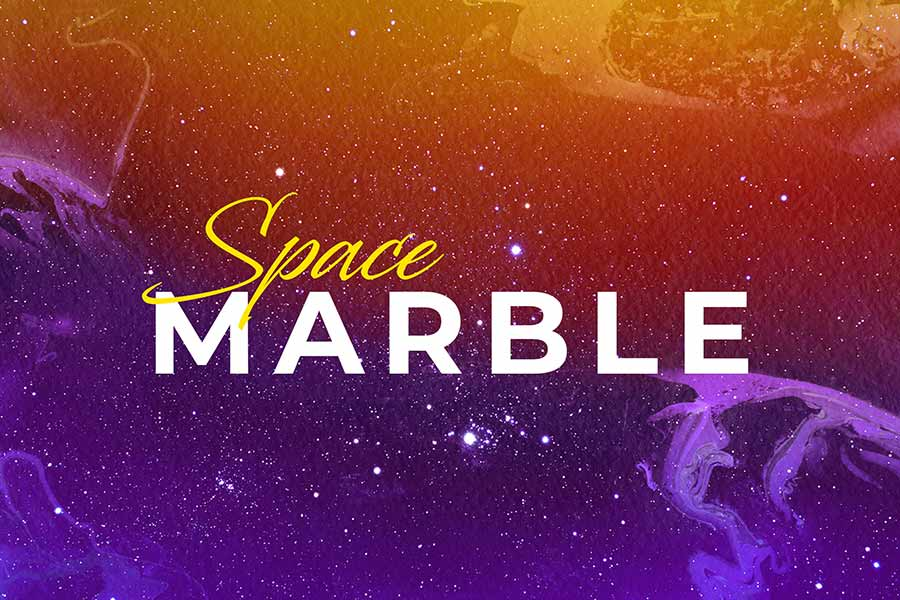 Space Marble Backgrounds Set