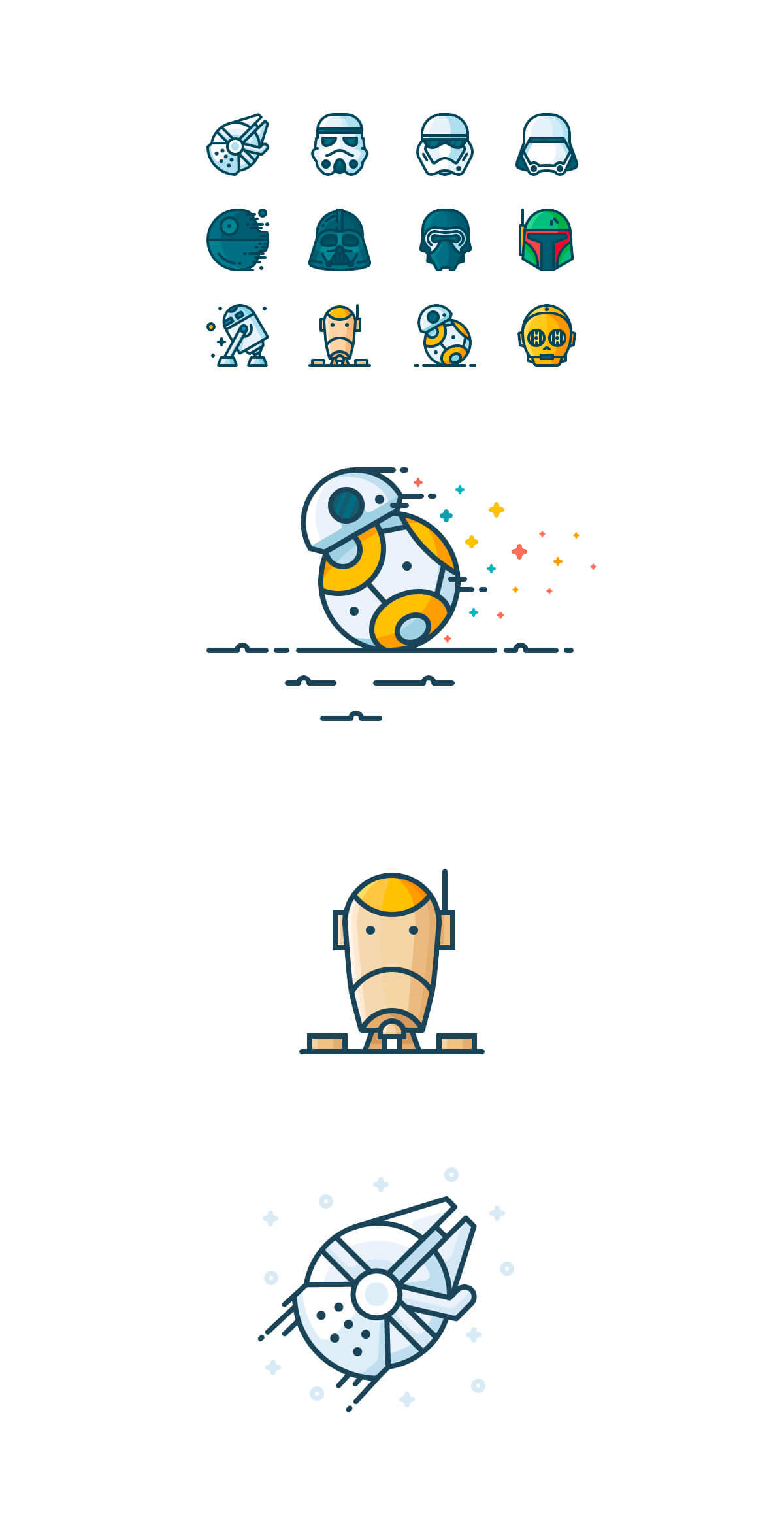 Star Wars Icons by Justas Galaburda
