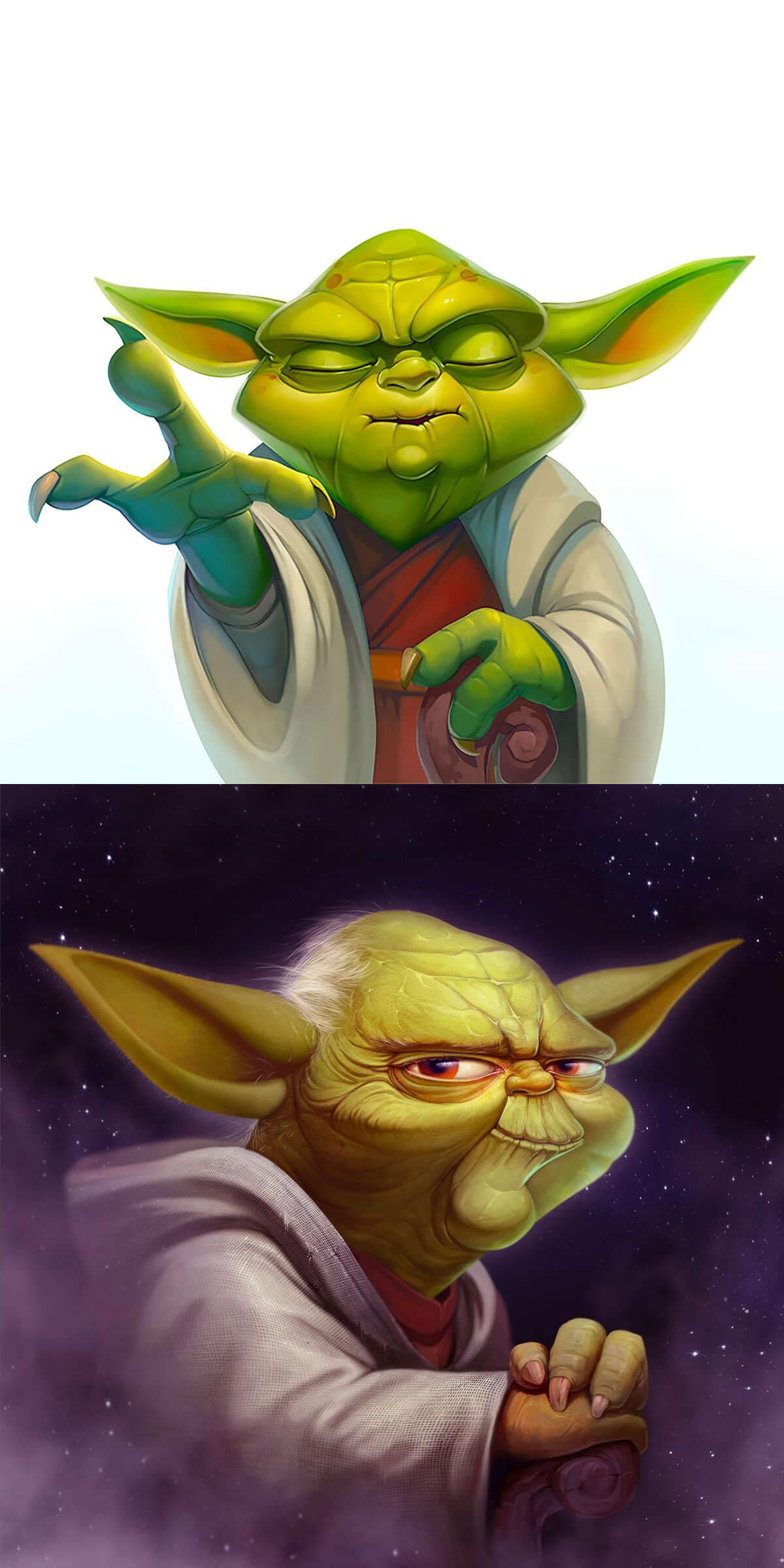 Star Wars Yoda by NestStrix Art