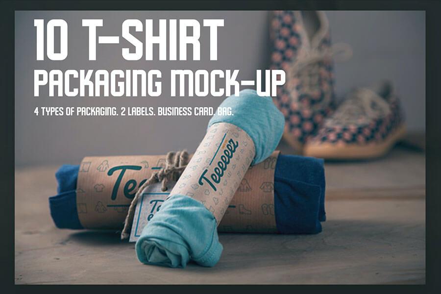 T-shirt Packaging Mockups