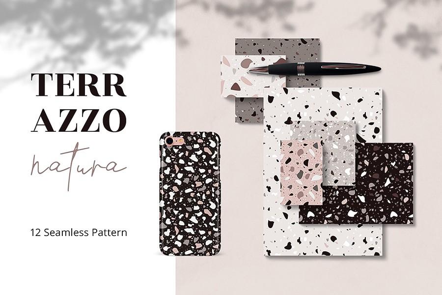 Terrazzo Natura Seamless Pattern