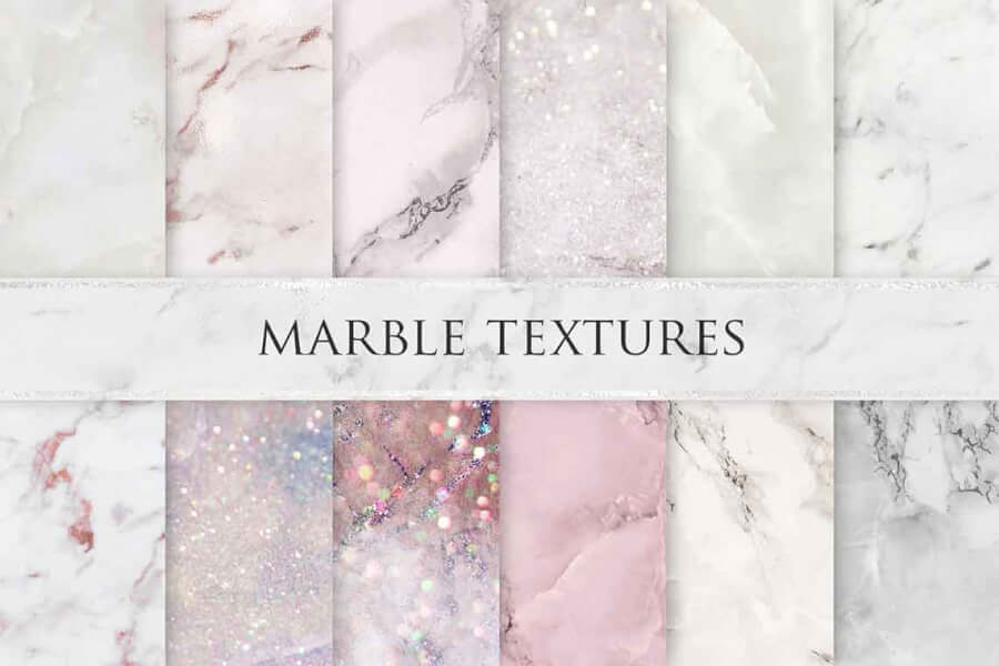 Valentine's Day Rose Marble Textures