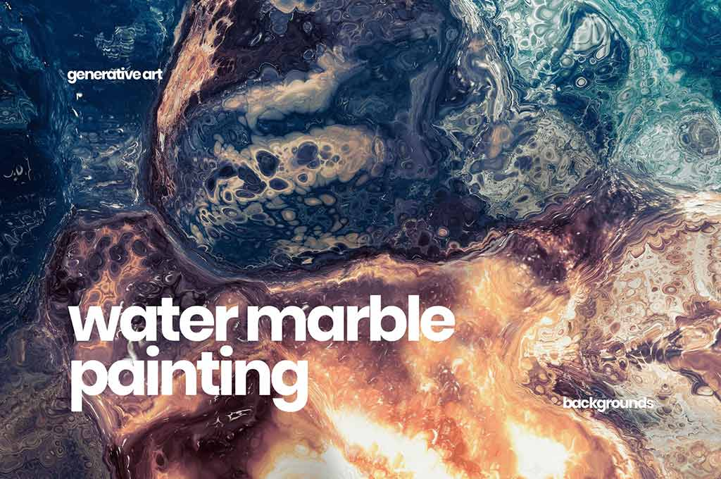 Water Marble Painting Backgrounds