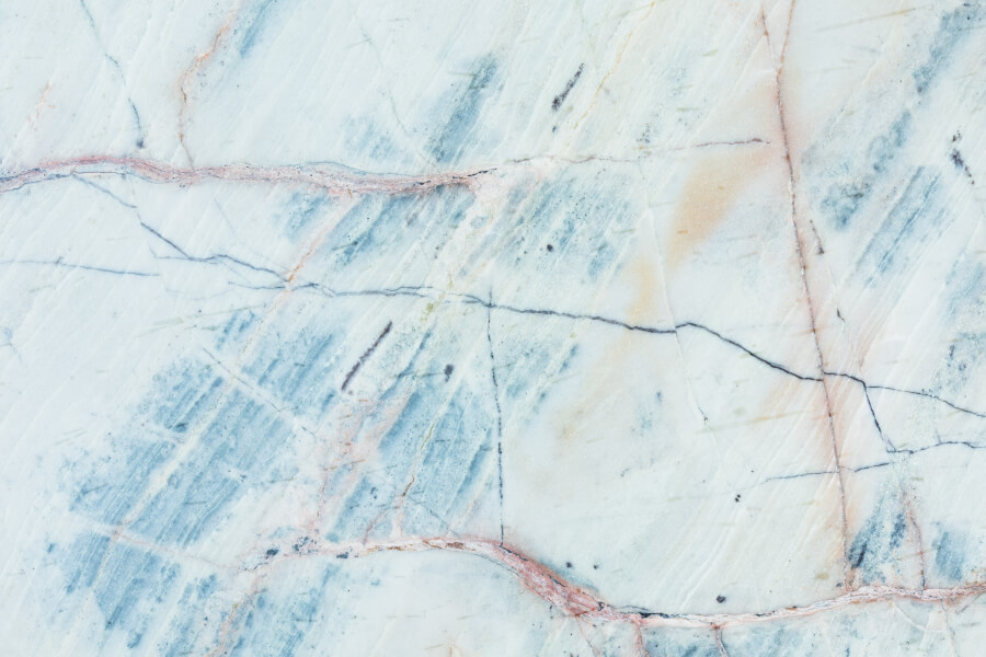 White and Blue Marble Surface