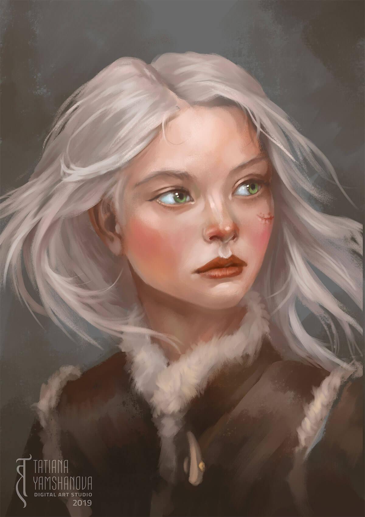Ciri fanart by Tatiana Yamshanova
