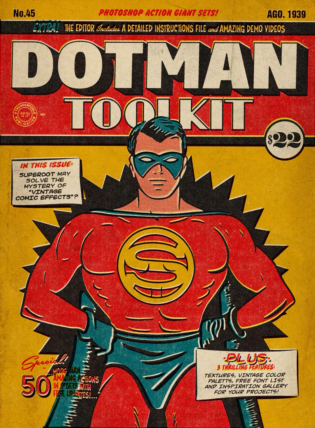 DotMan ToolKit Vintage Comic Effects