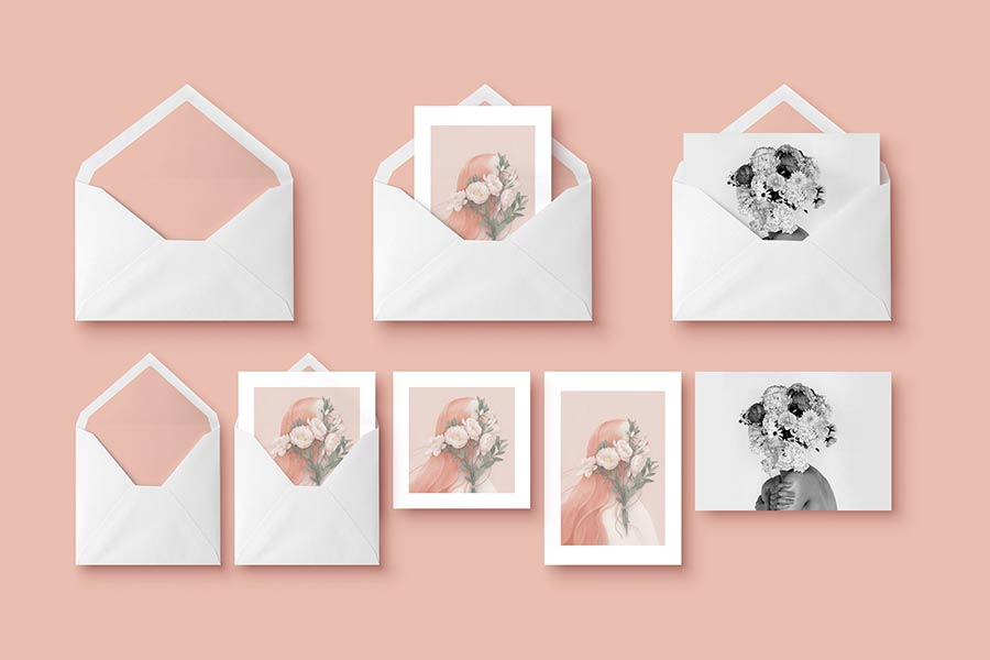 Envelope & Greeting Card Mockup