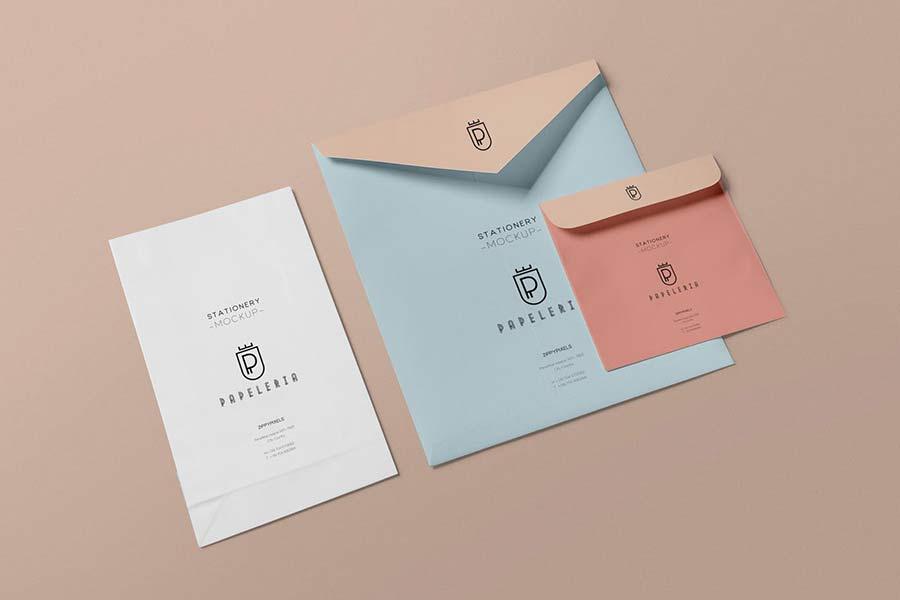 Envelope Mockups PSD