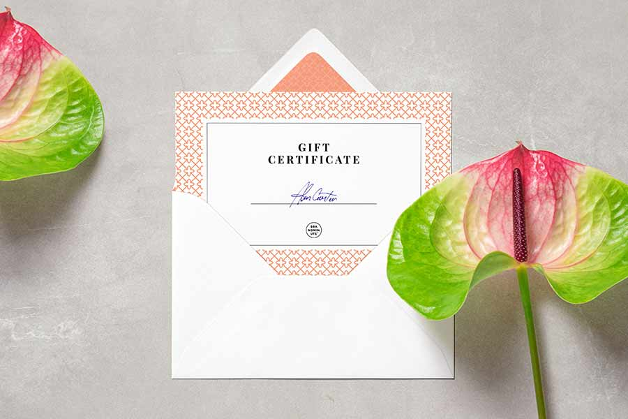 Envelope and Business Card Mockup