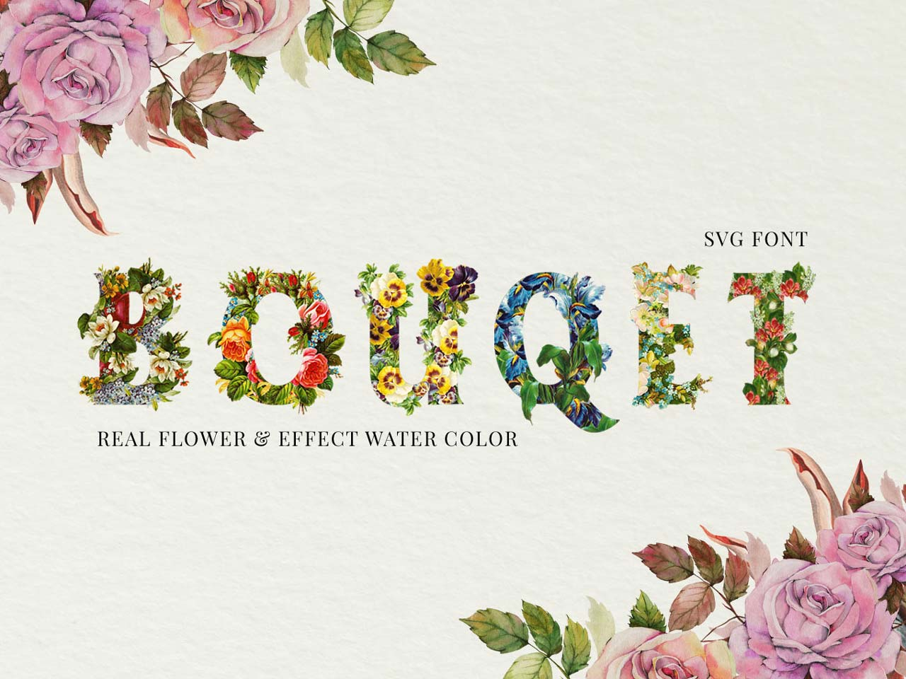 Flower Bouquet SVG Font