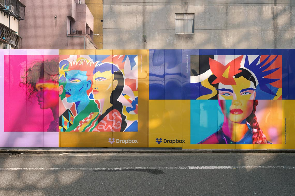 Free Mural Wall Mockup Scenes