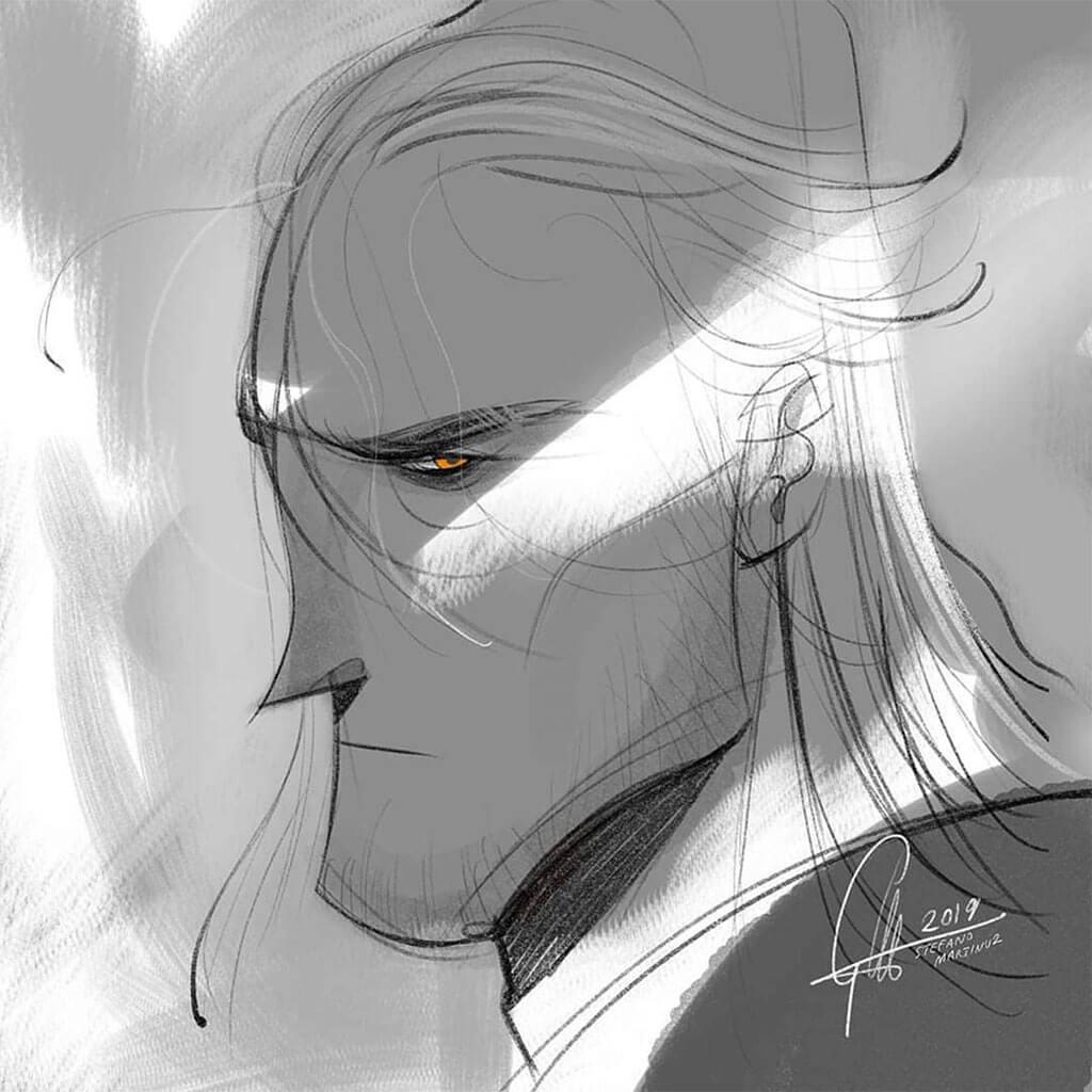 Geralt fanart by Stefano Martinuz