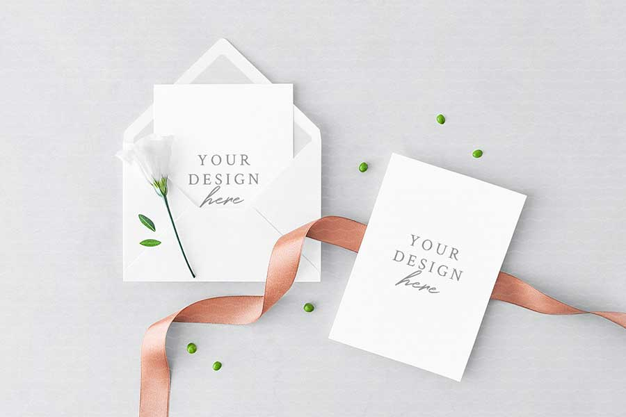 Greeting Card & Envelope Mockup