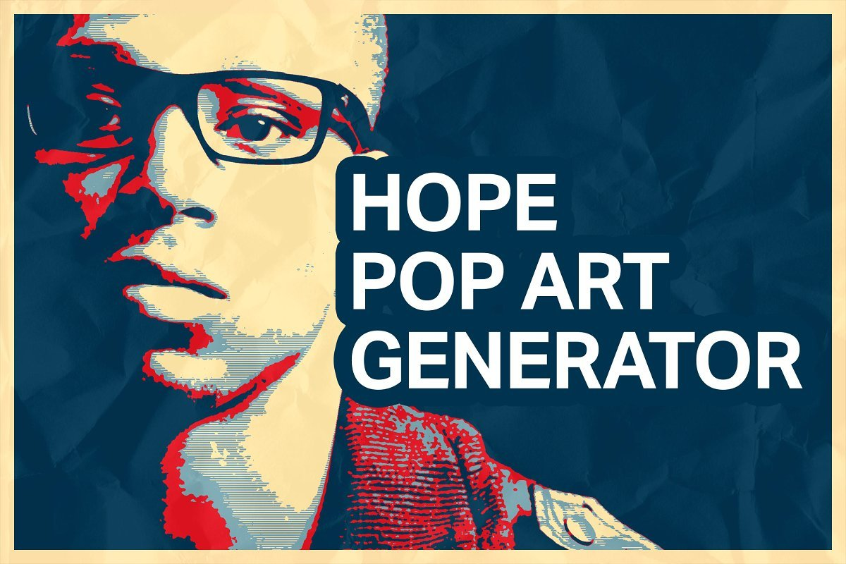 Hope Poster Pop Art Generator